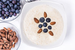 Bowl of porridge with berries Royalty Free Stock Images
