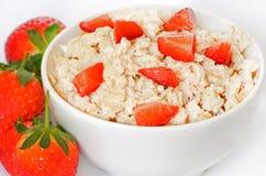 Bowl of porridge oats royalty free stock photos