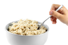 Bowl of porridge Royalty Free Stock Photo