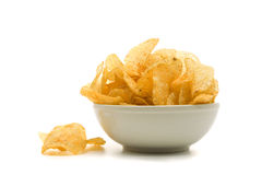 Bowl of potato chips Royalty Free Stock Photography