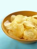 Bowl of potato chips Stock Image
