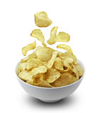 Bowl of potato chips Royalty Free Stock Photos