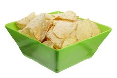 Bowl of Potato Chips Stock Image