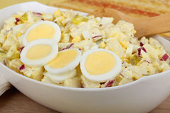 Bowl of Potato Salad stock images