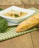 Bowl of potato and sausage soup Royalty Free Stock Photo