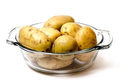 Bowl of Potato Yukon Gold Stock Photo