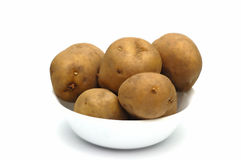 Bowl of Potatoes Royalty Free Stock Images