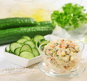 Cucumbers salad Royalty Free Stock Photography