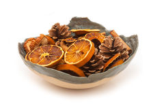 Bowl of potpourri Stock Photo