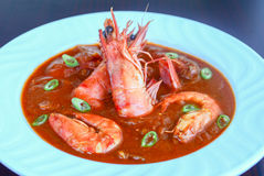 Bowl of prawn masala curry Royalty Free Stock Photography