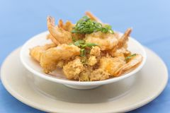 Close of bowl with Prawn tempura royalty free stock photography