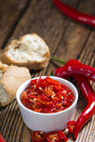 Bowl with preserved red Chilis Stock Photography