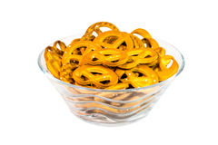 A bowl of pretzels Royalty Free Stock Photography