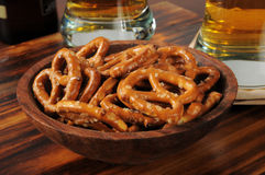 Bowl of pretzels Royalty Free Stock Photo