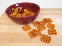 Bowl of pretzels Stock Images