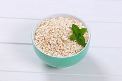 Bowl of puffed buckwheat Stock Images