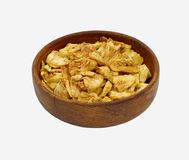 Bowl Puffed Pineapple Chips Stock Photography