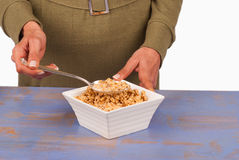 Breakfast cereals on table Royalty Free Stock Photography