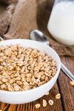 Bowl with puffed wheat Stock Photo