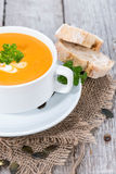 Bowl of Pumpkin Creme Soup Royalty Free Stock Images