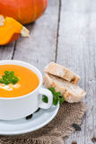 Bowl of Pumpkin Creme Soup Royalty Free Stock Image