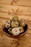 Bowl of Quail Eggs Stock Photos