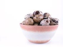Bowl of quail eggs Stock Photo