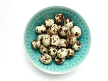 A bowl of quail eggs Royalty Free Stock Photo