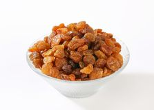 Bowl of raisins Royalty Free Stock Image
