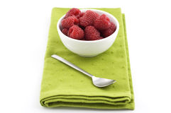 Bowl of raspberries Royalty Free Stock Photos