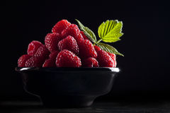 Bowl of raspberry Royalty Free Stock Photos