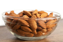 Bowl of Raw Almonds Royalty Free Stock Images
