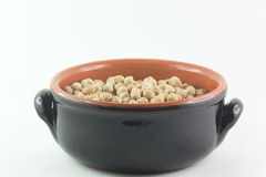 Bowl of raw chickpeas Stock Image