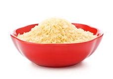 Bowl Of Raw Rice Stock Photography
