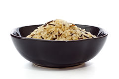 Bowl Of Raw Rice Royalty Free Stock Photography