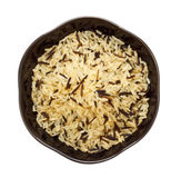 Bowl Of Raw Rice Royalty Free Stock Image