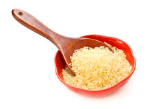 Bowl Of Raw Rice Royalty Free Stock Images