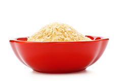 Bowl Of Raw Rice Royalty Free Stock Photo