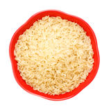 Bowl Of Raw Rice Stock Photo