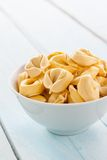 Bowl of raw tortellini Royalty Free Stock Photography