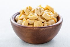 Bowl of raw tortellini Royalty Free Stock Image