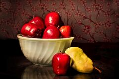 Bowl of red apples Stock Image