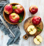 Bowl with red apples royalty free stock photography
