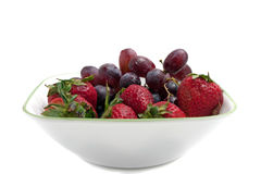 Bowl of Red Berries Royalty Free Stock Photography