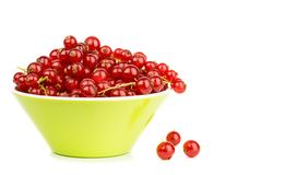 A Bowl of Red Currants Stock Photo