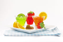 Bowl of red Jello Stock Images