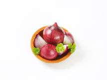 Bowl of red onion Royalty Free Stock Image