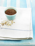 Bowl of red quinoa Stock Photography