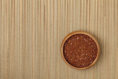 Bowl of red quinoa grain Royalty Free Stock Photos
