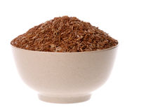 Bowl of red rice Royalty Free Stock Photography